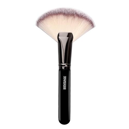 Кисть для макияжа LUXVISAGE веер MAXI №19, для пудры, румян, хайлайтера