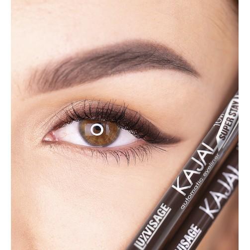 Карандаш механический для глаз LUXVISAGE KAJAL super stay 10h (dark chocolate)