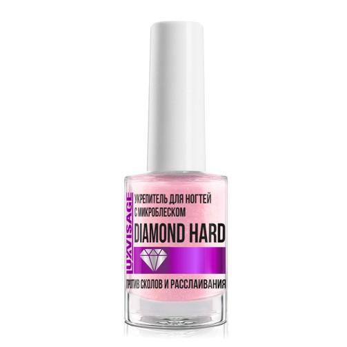 Укрепитель для ногтей с микроблеском против сколов и расслаивания Luxvisage Diamon Hard