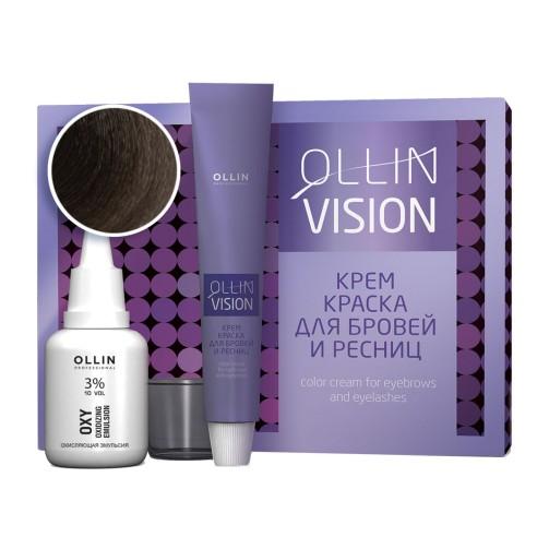 Крем-краска для бровей и ресниц Vision Set (коричневый)