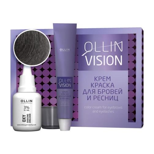 Крем-краска для бровей и ресниц Vision Set (графит)